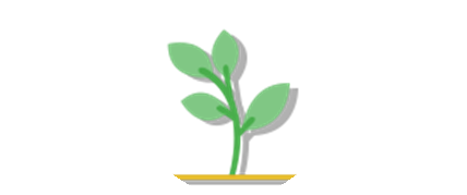 1 month membership icon of a sapling