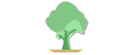 6 months membership icon of a big tree