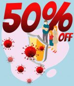 50% discount for everyone during coronavirus period